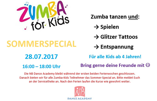 Zumba for Kids - Sommerspecial 2017